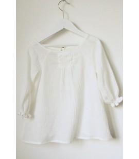 Blusa Gomitas Blanca