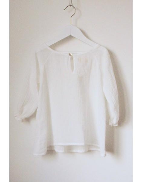 Niña Blusa Gomitas blanca