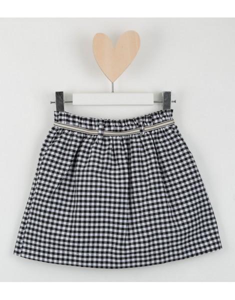 Falda Mini Vichy espalda