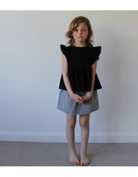 Falda Mini Vichy niña pequeña