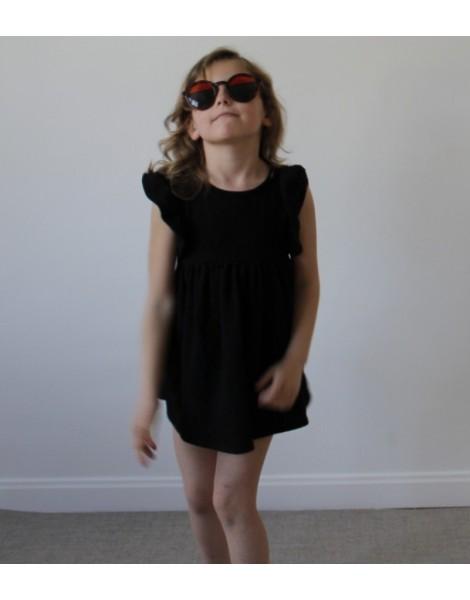 Niña con Vestido Campanita Negro