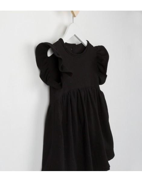 Vestido Campanita Negro Detalle
