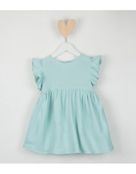 Vestido Campanita Verde Agua