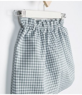 Falda Mini Vichy Gris
