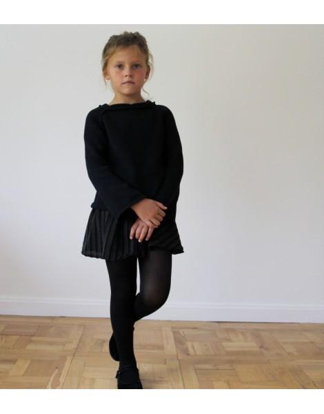 Niña con falda y Jersey Londres Negro