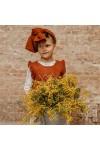 Chaleco punto algodón niña Avellana