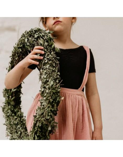 Falda en bambula de algodon rosa