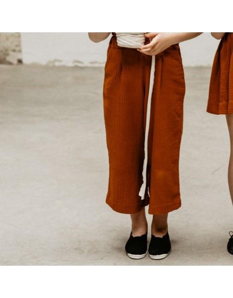 Pantalon Olmo bambula de algodón teja