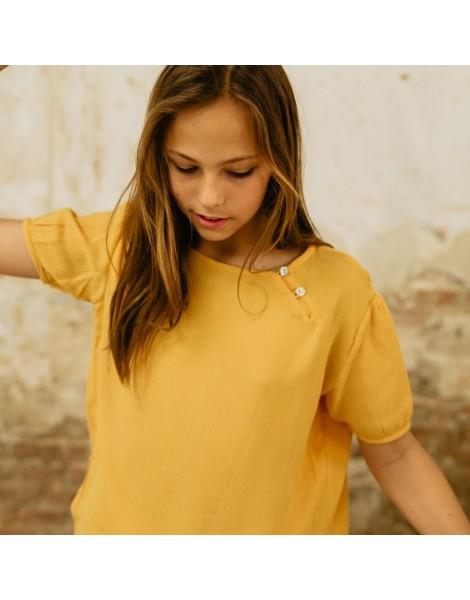 Blusa Chinesse Yellow Pista detalle