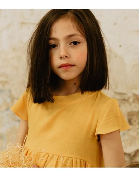 Vestido Yellow Pista detalle
