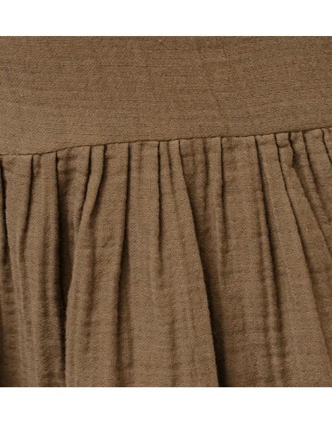 Vestido Liberty Caqui detalle delante