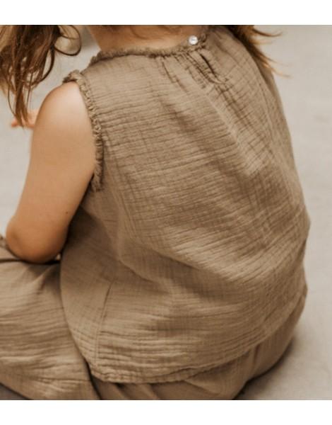 Blusa Peana Caqui espalda