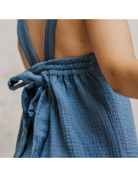 Mono Blue Pista detalle espalda